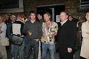 Mat and Alex Collishaw and James Birch, Pinkietessa's A-Z of London curated by James Birch. Trolley Gallery. Redchurch St. London E2. 11 September 2007. -DO NOT ARCHIVE-© Copyright Photograph by Dafydd Jones. 248 Clapham Rd. London SW9 0PZ. Tel 0207 820 0771. www.dafjones.com.