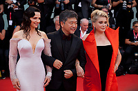 Juliette Binoche, Director Hirokazu Kore-eda and Catherine Deneuve at the Opening Ceremony and gala screening of the film The Truth (La Vérité) at the 76th Venice Film Festival, Sala Grande on Wednesday 28th August 2019, Venice Lido, Italy.