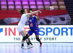 HERNING, DENMARK - DECEMBER 6: Nina Zulic passes during the EHF Euro 2020 Group A match between Slovenia and France in Jyske Bank Boxen, Herning, Denmark on December 6, 2020. Photo Credit: Allan Jensen/EVENTMEDIA.