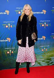 Gaby Roslin attending the premiere of Cirque du Soleil's Totem, in support of the Sentebale charity, held at the Royal Albert Hall, London.