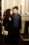 Nigella Lawson and Rupert Everett,  Book launch of Truth or Dare,  edited by Justine Picardie. House of St. Barnabus. Sales of the book at the launch went towards Breast  Cancer  Care. Greek St. London. 30 September 2004. SUPPLIED FOR ONE-TIME USE ONLY-DO NOT ARCHIVE. © Copyright Photograph by Dafydd Jones 66 Stockwell Park Rd. London SW9 0DA Tel 020 7733 0108 www.dafjones.com