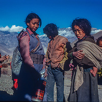 Youngsters hang out in Muktinath, Nepal.