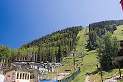 Taos Ski Valley lift in summer