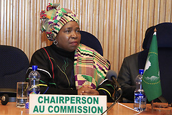 ADDIS ABABA, July 5, 2013  Nkosazana Dlamini-Zuma, Chairperson of the African Union (AU) Commission attends a press conference at the AU Headquarters in Addis Ababa, capital of Ethiopia, July 5, 2013. The Peace and Security Council (PSC) of the African Union (AU) on Friday suspended the participation of Egypt from the activities of the bloc after the North African country's President Mohamed Morsi was ousted. (Credit Image: å© Michael Tewelde/Xinhua/ZUMAPRESS.com)