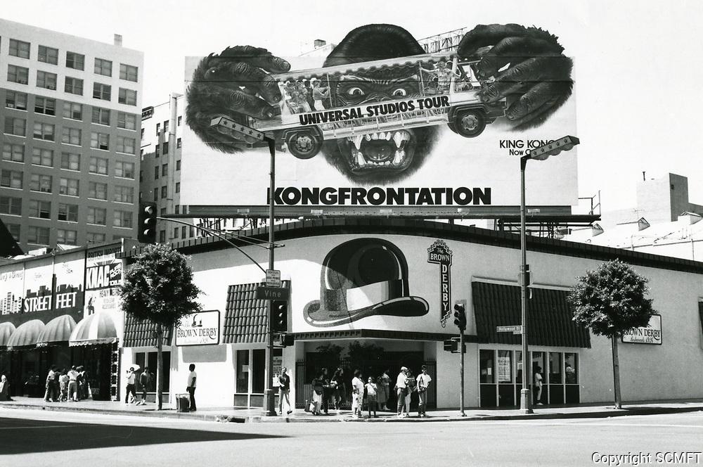 1987 Brown Derby Restaurant at Hollywood Blvd. & Vine St.