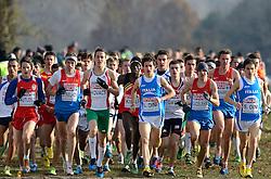 08-12-2013 ATHLETICS: SPAR EC CROSS COUNTRY: BELGRADE<br /> Junior men 6 km / Start met Isaac Kimeli BEL<br /> Foto: Ronald Hoogendoorn / Sportida
