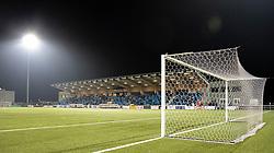 Et kig udover stadion under kampen i 1. Division mellem HB Køge og FC Helsingør den 4. december 2020 på Capelli Sport Stadion i Køge (Foto: Claus Birch).