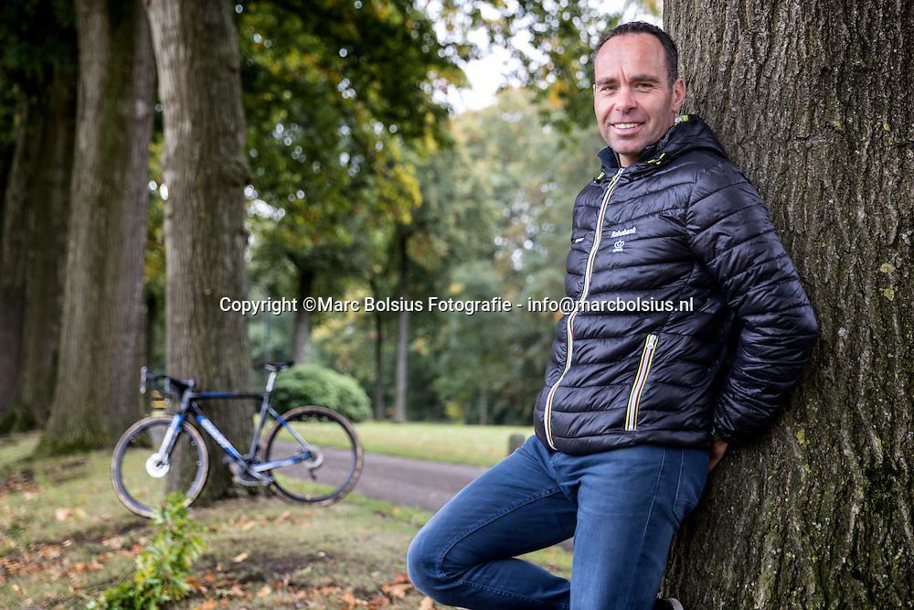 Nederland,  Sint Michielsgestel, oud veldrijder en ploeglleider van de rabobank Richard Groenendaal organiseert ion januari het NKveldrijden op het parcours van de Ruwenberg