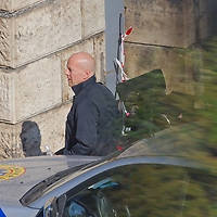 US actor Bruce Willis is seen during a shooting of the fifth piece in the Die Hard series titled Good Day to Die Hard during a shooting day in Budapest, Hungary on May 19, 2012. ATTILA VOLGYI