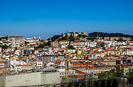 View of Lisbon on a bright sunny day.
