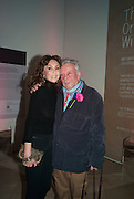 MARIE HELVIN; DAVID BAILEY, Opening of Bailey's Stardust - Exhibition - National Portrait Gallery London. 3 February 2014