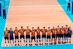 TeamNetherlands during the CEV Eurovolley 2021 Qualifiers between Croatia and Netherlands at Topsporthall Omnisport on May 16, 2021 in Apeldoorn, Netherlands