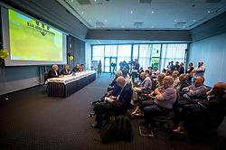 June 5, 2018 - Grobbendonk, BELGIUM - Illustration picture taken during a press conference of new soccer team KSK Lierse Kempenzonen, a merger between bankrupt Lierse SK and Oosterzonen, in Grobbendonk, Tuesday 05 June 2018. BELGA PHOTO LUC CLAESSEN (Credit Image: © Luc Claessen/Belga via ZUMA Press)