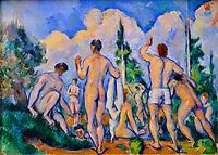 France, Paris (75), zone classée Patrimoine Mondial de l'UNESCO, Musée d'Orsay, Baigneurs, Paul Cézanne // France, Paris, Orsay museum, Baigneurs, Paul Cézanne