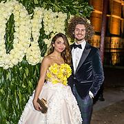 NLD/Amsterdam//20170309 - 5 jarig bestaan Vogue, Georgina Verbaan en partner Bram van Leeuwen
