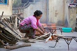 Making A Fire, Mount Popa