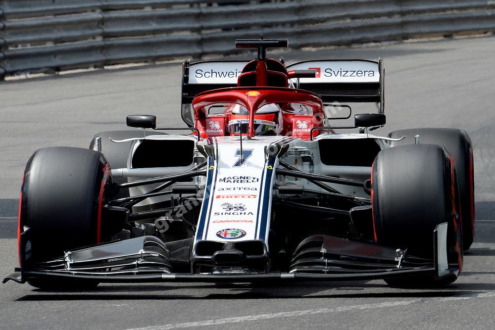 Kimi Raikkonen (Alfa Romeo-Ferrari) during qualifying for the 2019 Monaco Grand Prix. Photo: Grand Prix Photo