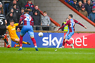 Lee Novak of Scunthorpe United (17) scores a goal to make the score 2-3 during the EFL Sky Bet League 1 match between Scunthorpe United and Bradford City at Glanford Park, Scunthorpe, England on 27 April 2019.