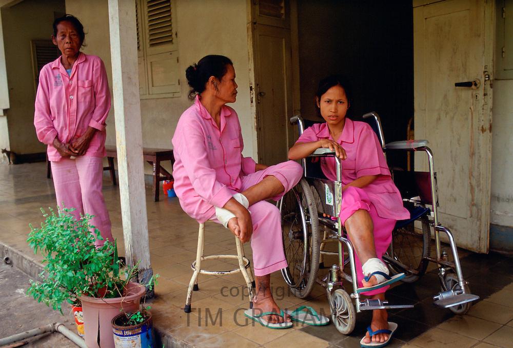 Patients at Sitanala Leprosy Hospital  in Jakarta, Indonesia