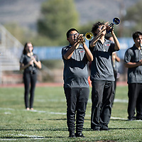 The Grants High school band during their halftime performance in Saturday's game against the Shiprock Chieftains, Sept. 29, 2018 in Grants.