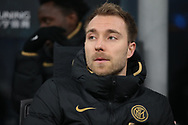 Christian Eriksen of Inter pictured on the bench during the Serie A match at Giuseppe Meazza, Milan. Picture date: 9th February 2020. Picture credit should read: Jonathan Moscrop/Sportimage