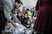 Feb. 24, 2016 - Lesbos, Greece - <br /> Migrants in Mytilene, island of Lesbos, Greece, on February 24, 2016. More than 110,000 migrants and refugees have crossed the Mediterranean to Greece and Italy so far this year, and 413 have lost their lives trying, the International Organization for Migration said on February 23, 2016. <br /> ©Exclusivepix Media