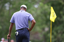 May 30, 2019 - Dublin, OH, U.S. - DUBLIN, OH - MAY 30: Tiger Woods stands on the green during the first round of The Memorial Tournament on May 30th 2019  at Muirfield Village Golf Club in Dublin, OH. (Photo by Ian Johnson/Icon Sportswire) (Credit Image: © Ian Johnson/Icon SMI via ZUMA Press)