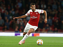 September 20, 2018 - London, England, United Kingdom - Arsenal's Henrikh Mkhitaryan in action.during UAFA Europa League Group E between Arsenal and FC Vorskla Poltava at Emirates stadium , London, England on 20 Sept 2018. (Credit Image: © Action Foto Sport/NurPhoto/ZUMA Press)