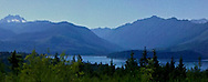 Hood Canal and Olympic Mountains from the Kitsap Peninsula in Puget Sound, Washington state, USA