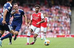 Reiss Nelson of Arsenal passes the ball - Mandatory by-line: Arron Gent/JMP - 28/07/2019 - FOOTBALL - Emirates Stadium - London, England - Arsenal v Olympique Lyonnais - Emirates Cup