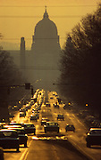 Pennsylvania Capitol Complex, Harrisburg, State Street, sunset