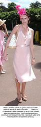 MISS LAETITIA CASH daughter of Bill Cash MP at Royal Ascot on 16th June 2004.PWF 131