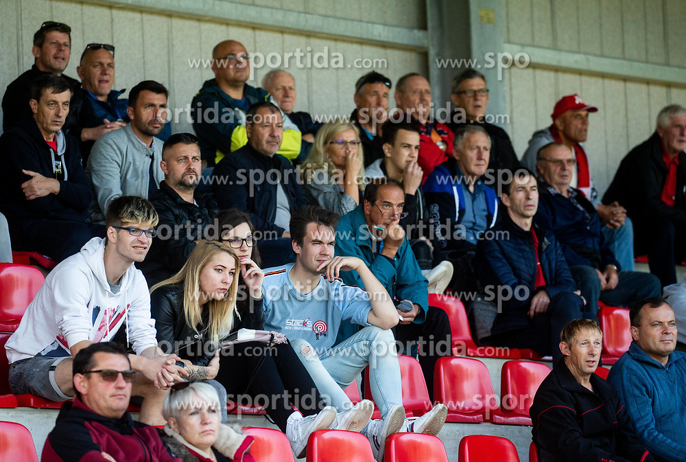 Spectators during football match between NK Aluminij and NK Bravo in Round #14 of Prva liga Telekom Slovenije 2019/20, on October 20, 2019 in Kidricevo, Slovenia. Photo by Vid Ponikvar / Sportida