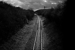 Railway line, Great Central Railway, Rothley, Leicestershire, England.<br /> Photo: Ed Maynard<br /> 07976 239803<br /> www.edmaynard.com