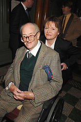 SIR JOHN & LADY MORTIMER at the 2008 Oldie of The year Awards and lunch held at Simpsons in The Strand, London on 11th March 2008.<br /><br />NON EXCLUSIVE - WORLD RIGHTS
