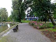 Diessen lake with rose garden