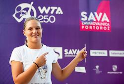 PORTOROZ, SLOVENIA - SEPTEMBER 11:   Pia Lovric of Slovenia during the Tournament welcome drink in VIP Lounge of WTA 250 Zavarovalnica Sava Portoroz at Stadium Marina on September 11, 2021 in Portoroz / Portorose, Slovenia. Photo by Vid Ponikvar / Sportida
