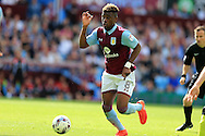 Aaron Tshibola of Aston Villa in action. EFL Skybet championship match, Aston Villa v Rotherham Utd at Villa Park in Birmingham, The Midlands on Saturday 13th August 2016.<br /> pic by Andrew Orchard, Andrew Orchard sports photography.