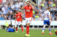 Michael Hefele of Huddersfield Town looks on. EFL Skybet  championship match, Reading  v Huddersfield Town at The Madejski Stadium in Reading, Berkshire on Saturday 24th September 2016.<br /> pic by John Patrick Fletcher, Andrew Orchard sports photography.
