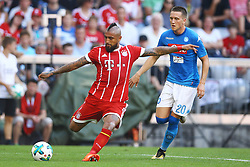 August 2, 2017 - Munich, Germany - Arturo Vidal of Bayern and Piotr Zielinski of Napoli during the Audi Cup 2017 match between SSC Napoli v FC Bayern Muenchen at Allianz Arena on August 2, 2017 in Munich, Germany. (Credit Image: © Matteo Ciambelli/NurPhoto via ZUMA Press)