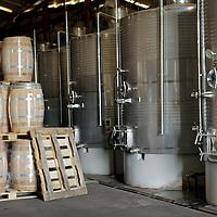 South America, Chile, Santiago. Wine Processing Plant at Santa Rita Winery.