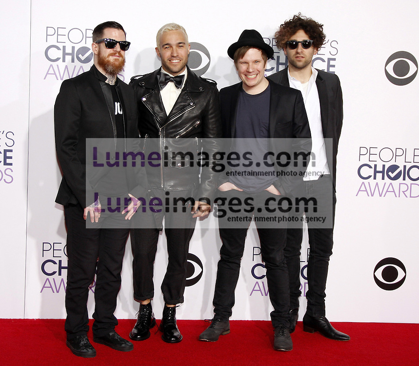 Fall Out Boy at the 41st Annual People's Choice Awards held at the Nokia L.A. Live Theatre in Los Angeles on January 7, 2015. Credit: Lumeimages.com