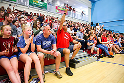 Bristol Flyers fans during the Play-Off QF 2nd Leg - Rogan/JMP - 06/05/2018 - BASKETBALL - SGS Wise Arena - Bristol, England - Bristol Flyers v Newcastle Eagles - British Basketball League.