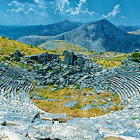 The Hellenistic style Roman theatre which seated 9000 spectators and is built on the highest altitude in the world (for such a theatre).