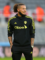 NEWCASTLE UPON TYNE, ENGLAND - SEPTEMBER 17: Kalvin Phillips of Leeds United prepares for the match during the Premier League match between Newcastle United and Leeds United at St. James Park on September 17, 2021 in Newcastle upon Tyne, England. (Photo by MB Media)