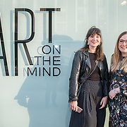 Left side Harriet Findlay, Charlotte Marshall, of Art On The Mind organise attend the Art On The Mind - Private view of an exhibition and auction which benefits homeless charity, Cardboard Citizens.
