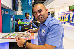 RACING POST: Betting Shop Manager-of-the-Year Amran Al-Haque at Coral, 1 Canada Square, Canary Wharf, London, November 08 2018.