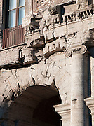 Detail of Theatre of Marcellus, Rome, Italy