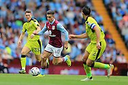 Jack Grealish of Aston Villa ©  makes a break. EFL Skybet championship match, Aston Villa v Rotherham Utd at Villa Park in Birmingham, The Midlands on Saturday 13th August 2016.<br /> pic by Andrew Orchard, Andrew Orchard sports photography.