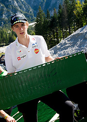 Jaka Hvala at media day of Slovenian Ski jumping team during construction of two new ski jumping hills HS 135 and HS 105, on September 18, 2012 in Planica, Slovenia. (Photo By Vid Ponikvar / Sportida)